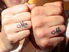 tatuaggi fedi nuziali monogramma