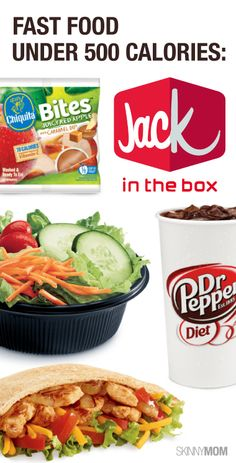 Food Under Jack in the Box On the go and need to make a dinner stop? Check out these meal options for under 500 calories!Check Check may refer to: Healthy Fast Food Options, Fast Healthy Meals, Quick Meals, Healthy Choices, Healthy Snacks, Healthy Eating, Healthy Recipes, Skinny Recipes, 500 Calorie Meals