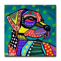 SALE ENDING Mexican Folk art Panel Poster of por HeatherGallerArt