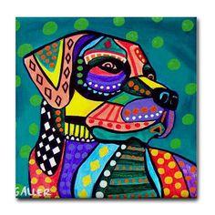 dog coasters  LAB ART GIFT  Pop Art Ceramic by HeatherGallerArt, $20.00
