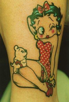 Betty Boop Tattoo #Best tattoos#Amazing tattoos!!!#