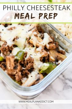 Low Carb Recipes To The Prism Weight Reduction Program Ditch The Traditional Style Philly Cheesesteak Sandwich This Week, And Make This Super Quick And Simple Philly Cheesesteak Meal Prep Instead Lunch Meal Prep, Meal Prep Bowls, Meal Prep Dinner Ideas, Meal Prep Keto, Weekly Meal Prep, Meal Prep Recipes, Fitness Meal Prep, Meal Prep Containers, Easy Healthy Meal Prep