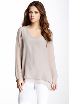 layered silk blouse
