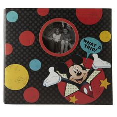 <div>Hold the memories from your Disney vacation in this colorful, dotted Mickey scrapbook. You ...