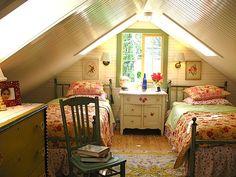adorable attic bedroom