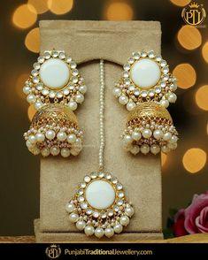Indian Jewelry Earrings, Indian Jewelry Sets, Jhumki Earrings, Indian Wedding Jewelry, Jewelry Design Earrings, Bridal Jewelry Sets, Tika Jewelry, Antique Earrings, Bridal Jewellery