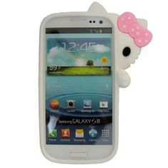 Amazon.com: WHITE 3D Hide-seek Hello Kitty Cute Lovely Soft Case Cover for Samsung Galaxy S3 I9300: Cell Phones & Accessories