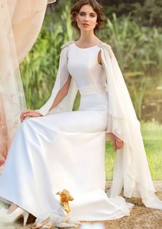 Sleeveless+Court+Train+Satin+A-Line+White+Scoop+Wedding+Dresses+For+Brides+16191405