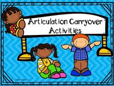 There is a full COLOR version and a BLACK AND WHITE ONLY version included in this packet! This packet includes 4 separate articulation carryover activities as well as visual aids (desk cards and classroom posters) to share with regular education teachers to encourage carryover of skills from the therapy room to other school environments! The packet is loaded with a variety of later-developing articulation sounds including: /R/, vocalic /R/, /L/, /S/, /Z/, /S/ Blends, /TH/, /CH/ and /SH/.