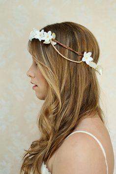 Aurelia - Bridal Floral Crown - Twig and Sparrow. $48.00, via Etsy.