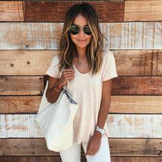 "Julie Sariñana på Instagram: ""Keepin' it light today. ☀️ / 7.23.15.... Hair by my girl @nikkilee901 at @ninezeroone"""