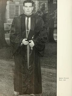 The Ohio Alumnus, June 1959. Joseph Denham was the first person to receive a doctorate from Ohio University, June 7, 1959. He studied chemistry and wrote his dissertation while working as an assistant professor at Hiram College. :: Ohio University Archives