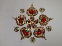 Acrylic Designer Rangoli 14 Home Decor Festive Marriage Decoration ...