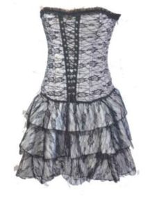 Gothic Corset with Skirt