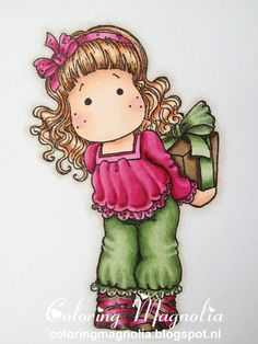 Coloring Magnolia Merry Little Christmas Collection - Secret Tilda Copics: Haar: E13- E53-E21-E50 Huid: E13-E11-E01-E00-E000-RV11 Kleding: RV19-RV17-RV09-RV55 -- BG99-YG67-YG63-YG61 Sokjes: E49-E47-E44 -- RV19-RV17-RV09-RV55 Cadeautje: BG99-YG67-YG63-YG61 -- E49-E47-E44 Achtergrond schaduw: W3-W1-W00