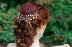 ON SALE  Boho Bridal Back Headpiece, Wedding Hairpiece,Bridal Hair Vine ,Wedding  Crystal Headpiece  ,Wedding headpiece - JESSICA