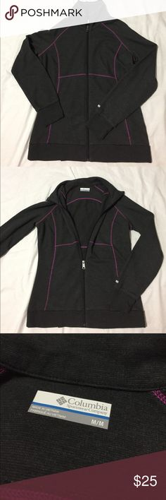 Columbia Wildflower Woodlands Full Zip Jacket Excellent, lightweight Columbia jacket. Great condition, hardly worn. 75% cotton, 25% Polyester. 25 inches from neck to bottom, 22 inch sleeve, 18 inch across bust. Columbia Tops Sweatshirts & Hoodies