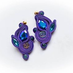 Bead Embroidery Jewelry, Textile Jewelry, Beaded Embroidery, Boho Jewelry, Beaded Jewelry, Handmade Jewelry, Jewellery, Soutache Necklace, Tassel Earrings