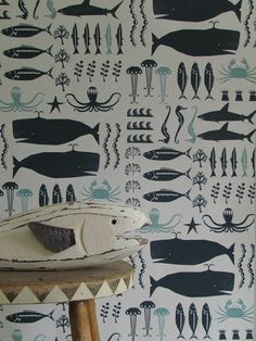 Swimming in the Sea #wallpaper #coveredwallpaper #nautrewallpaper #paperyourwalls #design #homedecor #home #decor #nature