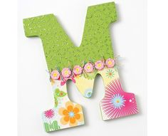 Hang this cute letter in your daughter's room or spell out her name.