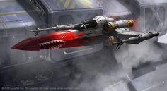 N'dru Suhlak's X-Wing // by Ben Zweifel