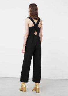 Wrap-back short jumpsuit - Women Fashionista Trends, Long Jumpsuits, Jumpsuits For Women, Fashion Moda, Womens Fashion, Short Jumpsuit, Jeans, Catwalk, Mango