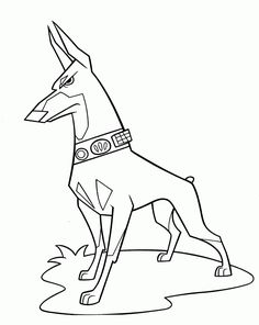 7 best doberman coloring pages images on pinterest for Doberman coloring pages