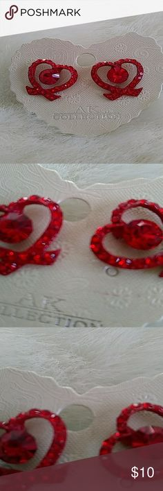Red Earrings New A pair of new earrings in red and silver tone. They are brand new and ready for you! Jewelry Earrings