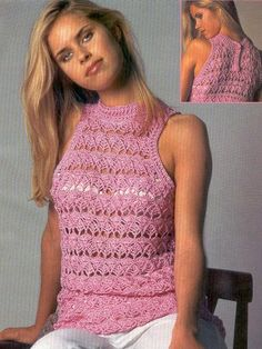 Openwork crochet top