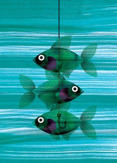 """X-Ray fish"" illustration, 'The Curious Explorer's Illustrated Pocket Companion to Exotic Animals, A-Z', by Marc Martin."