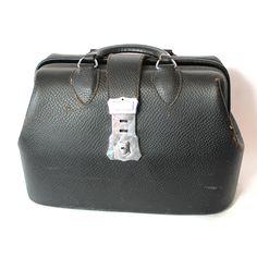 Vintage Kruse leather Doctor Bag.