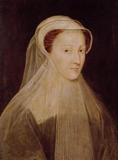 Mary, Queen of Scots, in white mourning for her first husband, Francis II, King of France