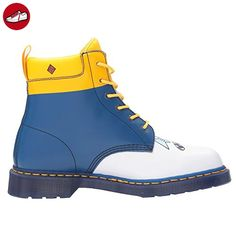 Dr.Martens Womens 939 Ice King 6 Eyelet White Blue Leather Boots 39 EU (*Partner-Link)