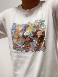 Art heros cartoon T-shirt Pale Aesthetic, Aesthetic Fashion, Aesthetic Clothes, Harajuku Fashion, 90s Fashion, Vintage Outfits, Vintage Fashion, Cartoon T Shirts, Art Hoe