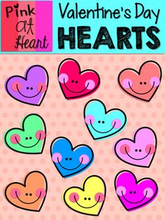 Valentine's Day Hearts Clip Art from kac2877 from kac2877 on TeachersNotebook.com (13 pages)  - 10 cute and colorful png Valentine's Day Heart images!