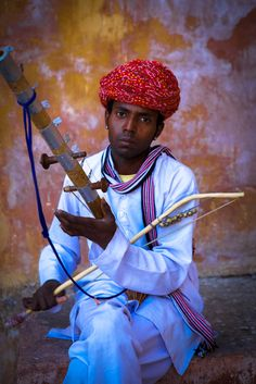 Indian Musician in Jaipur