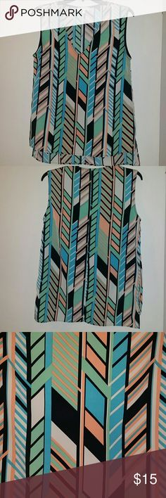 Beautiful Multicolor top Beautiful multicolor top by Glam, size Small. 100% Polyester. Glam Tops