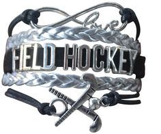 This Sportybella Girls Field Hockey Jewelry Bracelet is a beautiful and fun way to express your love of Hockey. This makes a Perfect gift for Hockey Teams, Hockey Players & Hockey Coaches. Details of Bracelet: Hockey Team Colors: Silver & Black Size: Hockey bracelets are adjustable, 6-8 Inches Adjustable Length Material: Leather and wax cords with antique silver alloy …