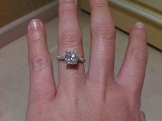 2 carat cushion cut Tiffany's Novo engagement ring...yes, please!