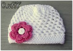 Butterfly Beanie, free crochet pattern in newborn to adult sizes on AG Handmades