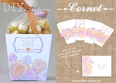 D.I.Y Cornet pop-corn à télécharger | DIY Mariage | Queen For A Day - Blog mariage