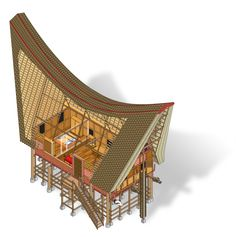 Tongkonan Toraja by Septa Inigopatria, via Behance