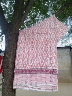 indian village made cotton fabric kantha quilts single size bed cover bed sheet ikat print hand block printed twin size throw,kantha quilts