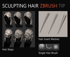 Tutorial Zbrush, 3d Tutorial, Zbrush Character, Character Modeling, Character Art, Blender 3d, Zbrush Anatomy, Zbrush Hair, Sculpting Tutorials