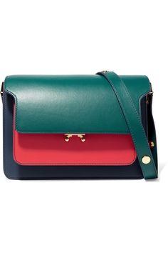Marni | Trunk medium color-block leather shoulder bag | NET-A-PORTER.COM