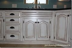 Paint and Glaze Cabinet Tutorial