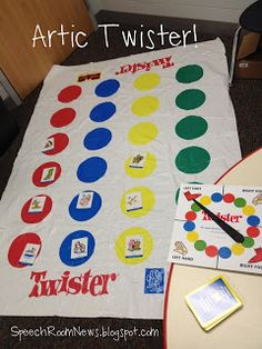 Each student chose a color and they needed to cover each of their dots. We spun our spinner board and each said the word multiple trials, before we covered the appropriate dot!