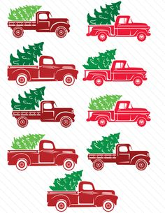 red-christmas-truck-cut-file