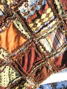 Rag Quilt-I like the different size panels in this one.