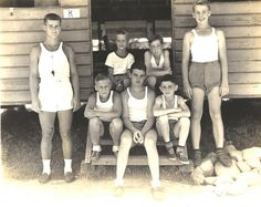 1940s Boys at Summer Camp Photo